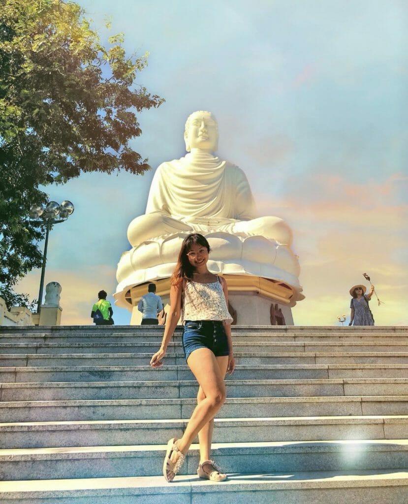 The author at the Long Son Pagoda, Nha Trang, Vietnam