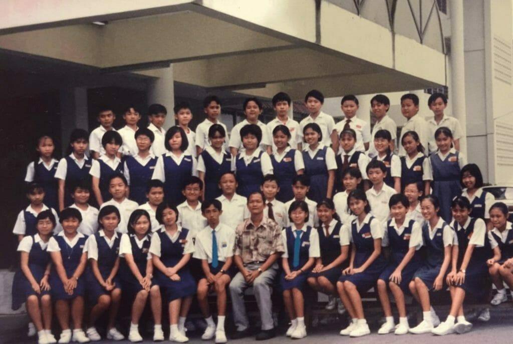 Malaysian chinese students group photo 1990